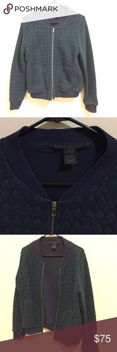 Marc by Marc Jacobs Quilted Bomber Jacket Lightly worn (4 or 5 times) blue and green quilted Marc by Marc Jacobs bomber jacket. US Women's size Large. Marc by Marc Jacobs Jackets & Coats