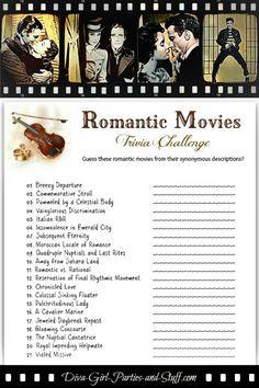 Romantic Movies Trivia Game - Valentine Trivia.