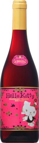 HELLO KITTY BEAUJOLAIS VILLAGES NOUVEAU 2013 Bottle image