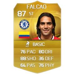 My prediction for Falcao's FIFA 16 card! What do you think? Fifa 15, Free Followers, Thinking Of You, Football, Thinking About You, Soccer, Futbol, American Football, Soccer Ball