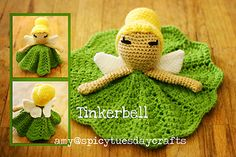 Crochet Projects Ideas Tinkerbell Princess Lovey FREE Crochet Pattern - You will love these Disney Princess Crochet Blanket Patterns and we have all your favorite characters. Check them all out now and Pin your favorites. Crochet Afghans, Crochet Blanket Patterns, Amigurumi Patterns, Baby Blanket Crochet, Baby Patterns, Free Crochet Doll Patterns, Crochet Blankets, Crochet Gifts, Cute Crochet