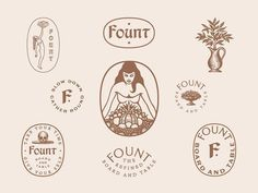 Fount Brand assets for Found, Board + Table on Dribbble   brand design custom type identity design illustration skull type typography