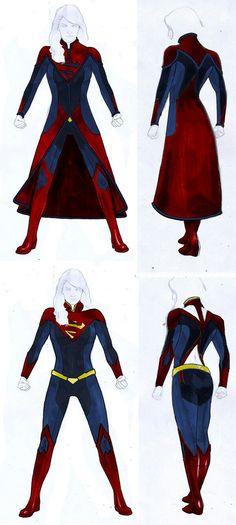 Supergirl Suit Concepts | Suit #1 is best