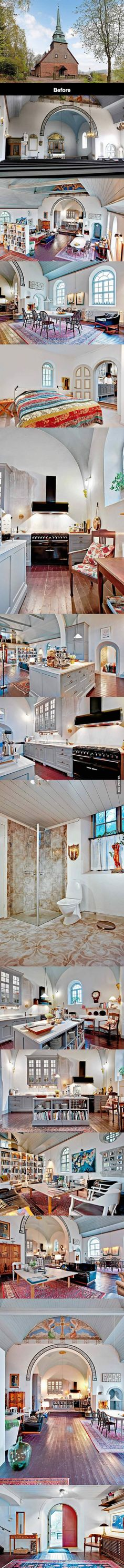 Old Swedish Church Turned Into Luxury Home