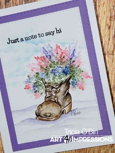 TOBin Art Studio - Sharing my love of crafting including coloring, painting and brush calligraphy. Ai Shoes, Art Impressions Stamps, Penguin Art, Valentines Art, Wink Of Stella, Make Up Your Mind, Winter Springs, Watercolor Cards, Small Flowers