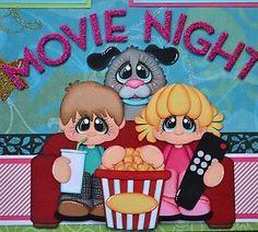 Movie Night (Scrapbook Paper Piecings)