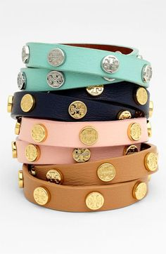 Tory Burch Logo Double Wrap Bracelet available at #Nordstrom