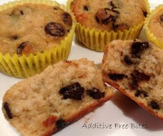 Additive Free Bites: Coconut Chocolate Chip Cupcakes
