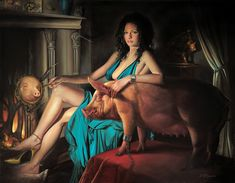 The Ham by David Michael Bowers, oil on wood