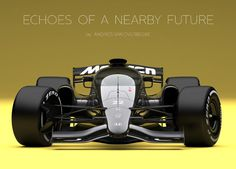 McLaren-Honda Formula 1 amazing concept, created to visualize what cars could look like with a closed cockpit. Images credit Andries van Overbeeke The… Automobile, Formula 1 Car, F1 Drivers, Transportation Design, Courses, Grand Prix, Race Cars, Honda, Future