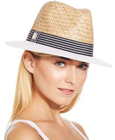 Vince Camuto Nautical Panama Hat
