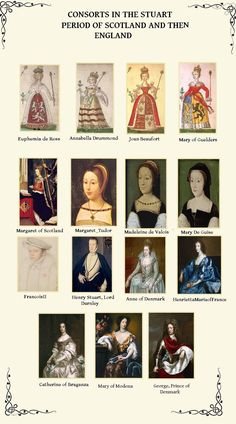 Portrait Gallery, from The Plantagenet, Tudor and Stuart Periodperiod in history. Visit Tudor Rose and Find out more! Scotland History, Uk History, Asian History, Tudor History, European History, British History, History Facts, Family History, History Education