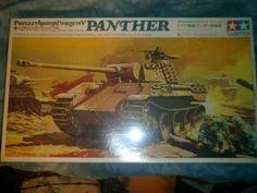 NOS Factory Sealed 1970's Tamiya 1/35 Scale Panzerkampfwagen V Panther Model (MOTORIZED) by MyHillbillyWays on Etsy