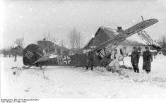 Russia, March 1944 crash landing of a Fieseler Storch Fi 156