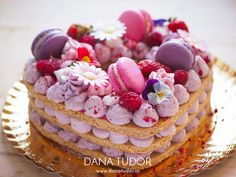 Tort in forma de inima in stil 'number cake' - DANA TUDOR Love to Cook Cake Lettering, Number Cakes, Pavlova, Something Sweet, Cake Cookies, Macarons, Biscuit, Numbers, Ice Cream