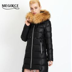 656316599683 New Winter Collection 2017 Winter Women s Warm down Jacket European  Tailoring a Collar of Natural Raccoon Fur Coat