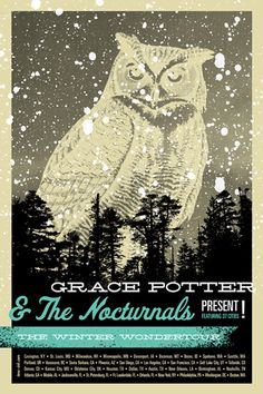 Grace Potter and the Nocturnals tour poster from Tone Ink