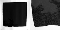 """108 - """"Black Square"""" - hand printed by Studiocromie.  2 colors (2 different black layers) screen printed on paper.  Limited to 13 numbered and signed pieces."""