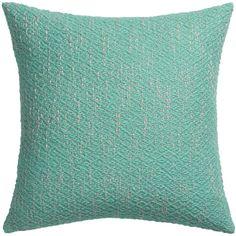 "diamond weave aqua 18"" pillow with down-alternative insert  | CB2"