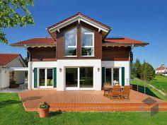 Döring von Fertighaus WEISS Wohnfläche gesamt145 m² Zimmeranzahl5  Doppelhaus, Zweifamilienhaus, Haustypen, Barrierefrei, Hausbau, Luxushaus, Familienhaus  www.fertighaus.de