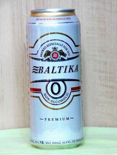 Empty Can Of Ukrainian Non Alcoholic Beer BALTIKA. 500 ml. 2017 Open from botom! #BALTIKA
