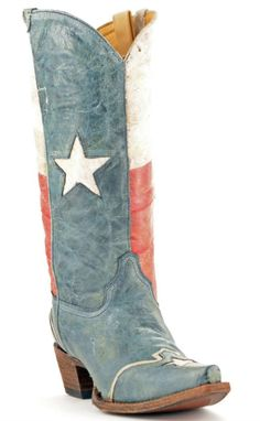 Corral Texas Flag Cowboy Boots