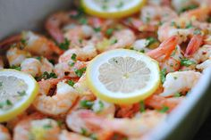 Lemon and Garlic Shrimp with Chickpeas - Eat Yourself Skinny Clean Recipes, Healthy Recipes, Healthy Meals, Healthy Food, Happy Healthy, Healthy Cooking, Diet Recipes, Recipies, Lemon Garlic Shrimp