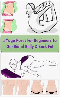 4 Yoga Poses For Beginners To Get Rid of Belly & Back Fat