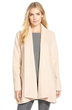 Calvin Klein Wool Blend Clutch Coat   Nordstrom