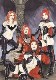 Jean Grey, Dark Phoenix, Black Queen and Goblin Queen by Mariah Benes, in Yann S's Comics sketches / commissions Comic Art Gallery Room Xmen Comics, Arte Dc Comics, Comic Book Characters, Comic Character, Comic Books Art, Female Characters, Marvel Girls, Comics Girls, Marvel Art