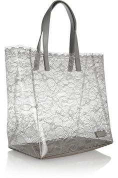 Marc by Marc Jacobs Leather-trimmed PVC and lace tote NET-A-PORTER.COM