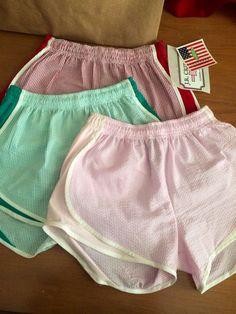 Seer sucker running shorts