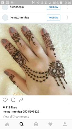 Eid Mehndi-Henna Designs for Girls.Beautiful Mehndi designs for Eid & festivals. Collection of creative & unique mehndi-henna designs for girls this Eid Henna Hand Designs, Mehndi Designs Finger, Latest Arabic Mehndi Designs, Henna Tattoo Designs Simple, Stylish Mehndi Designs, Mehndi Designs For Girls, Mehndi Designs For Beginners, New Bridal Mehndi Designs, Mehndi Designs For Fingers
