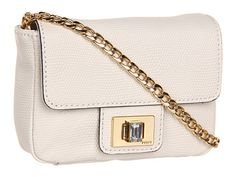 Juicy Couture Mini G Emblazon Leather Optic White - 6pm.com