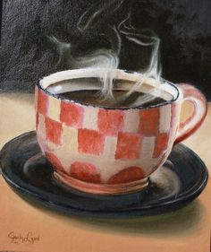 Canvas painting coffee
