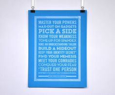 Personalised 'Master Your Powers' Poster