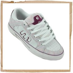 Etnies Dasit White/Purple Etnies Dasit Vulcanized Construction Trademark Etnies E Logo Elastic Tongue - Centering Straps Thin Padded Tongue And Collar STI Foam Cushioning Footbed 400 NBS Rubber Outsole With Internal EVA Midsol http://www.comparestoreprices.co.uk//etnies-dasit-white-purple.asp