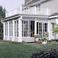 Porches are much more than spots to enjoy the outdoors. Well-decorated, well-planned porches can boost curb appeal, exhibit a homeowner's style, and extend practical living space. Here are 22 ideas to inspire your own porch designs. Screened Porch Designs, Four Seasons Room, 4 Season Room, Sunroom Addition, Home Addition Plans, Building A Porch, House With Porch, House Extensions, Back Patio