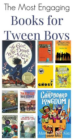 Parents know how hard it can be to find engaging books for tween boys. It's been a struggle for us for years. this list was compiled. Books For Tweens, Books For Boys, Childrens Books, Tween Books, Fiction Books For Kids, Book Suggestions, Book Recommendations, Middle School Books, Middle School Libraries