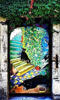 Door, Bratislava, Slovakia ...