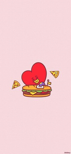 Hoseok Bts, Bts Taehyung, Bts Army Logo, Paper Ipad, Alphabet Symbols, K Wallpaper, Fanarts Anime, Line Friends, Bts Chibi