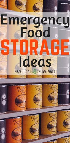 Awesome tips, tricks, and Ideas on where to store your emergency food storage after you stock up.  #emergencyfood #foodstorage #emergencyfoodstorage