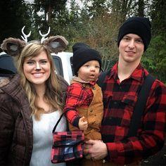 Lumberjack/woodland family costumes