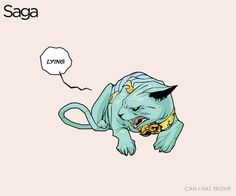 lying cat! <3 | from the best comic ever (saga)
