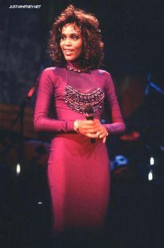 Whitney Houston: Pop royalty...note the purple ;-)