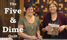 http://missouriquiltco.com -- Jenny Doan is joined by Lynne Hagmeier of Kansas Troubles Quilters (Moda designer) to show off her quick and easy Five & Dime Q...
