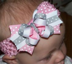 SMALL Surrounding Loop Stacked Boutique Bow by PrincessRibbitBows, $5.50