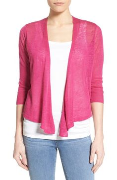 NIC+ZOE '4-Way' Convertible Three Quarter Sleeve Cardigan (Regular & Petite) | Nordstrom
