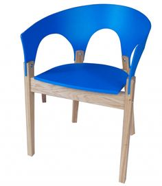 CNC Craft: colourful kitchen chairs in red,yellow,green or blue recycled  plastic Made in Britain sustainable