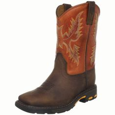 Ariat Workhog Wide Square-Toe Western Boot (Toddler/Little Kid/Big Kid),Dark Earth/Brick,8.5 M US Toddler Ariat,http://www.amazon.com/dp/B004I1WTNS/ref=cm_sw_r_pi_dp_JBUtsb10BGW6XY48